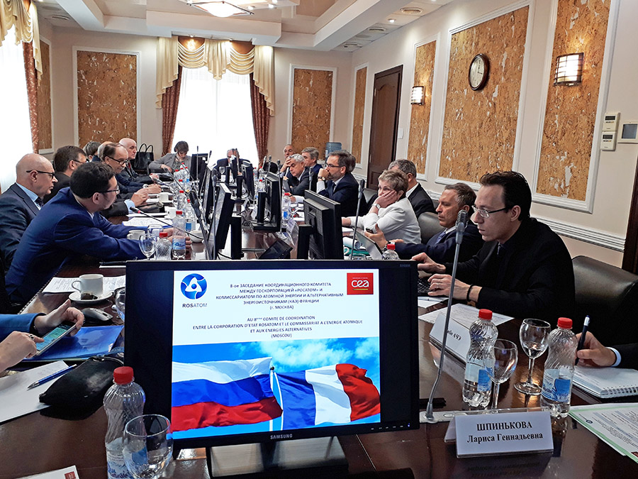 "8th Meeting of the Coordination Committee between SC ""Rosatom"" and CEA"